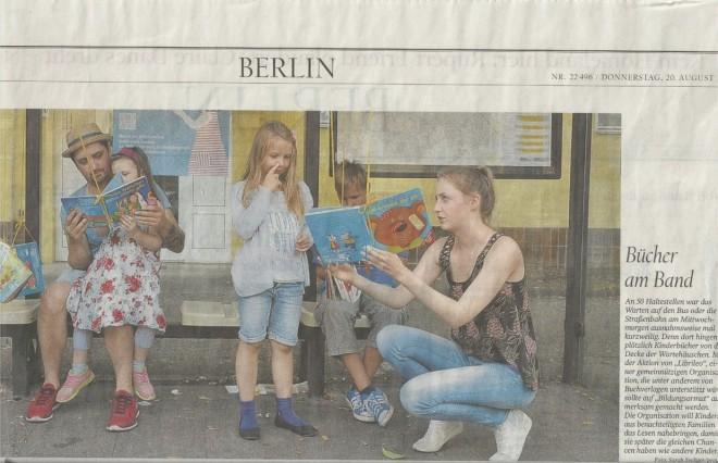 """""""Hanging Books"""" in der Berliner Zeitung"""